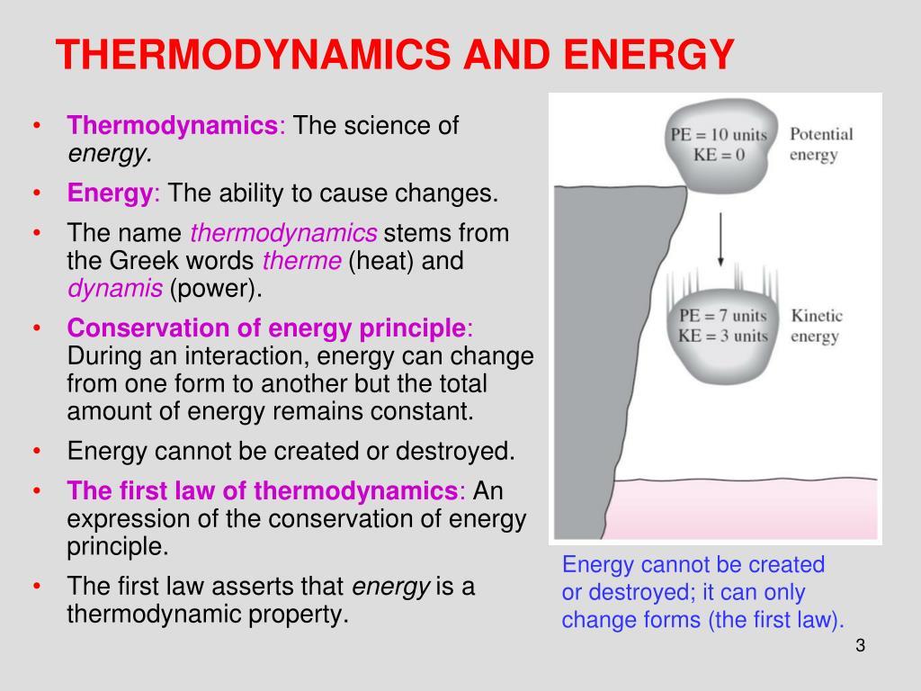 THERMODYNAMICS AND ENERGY