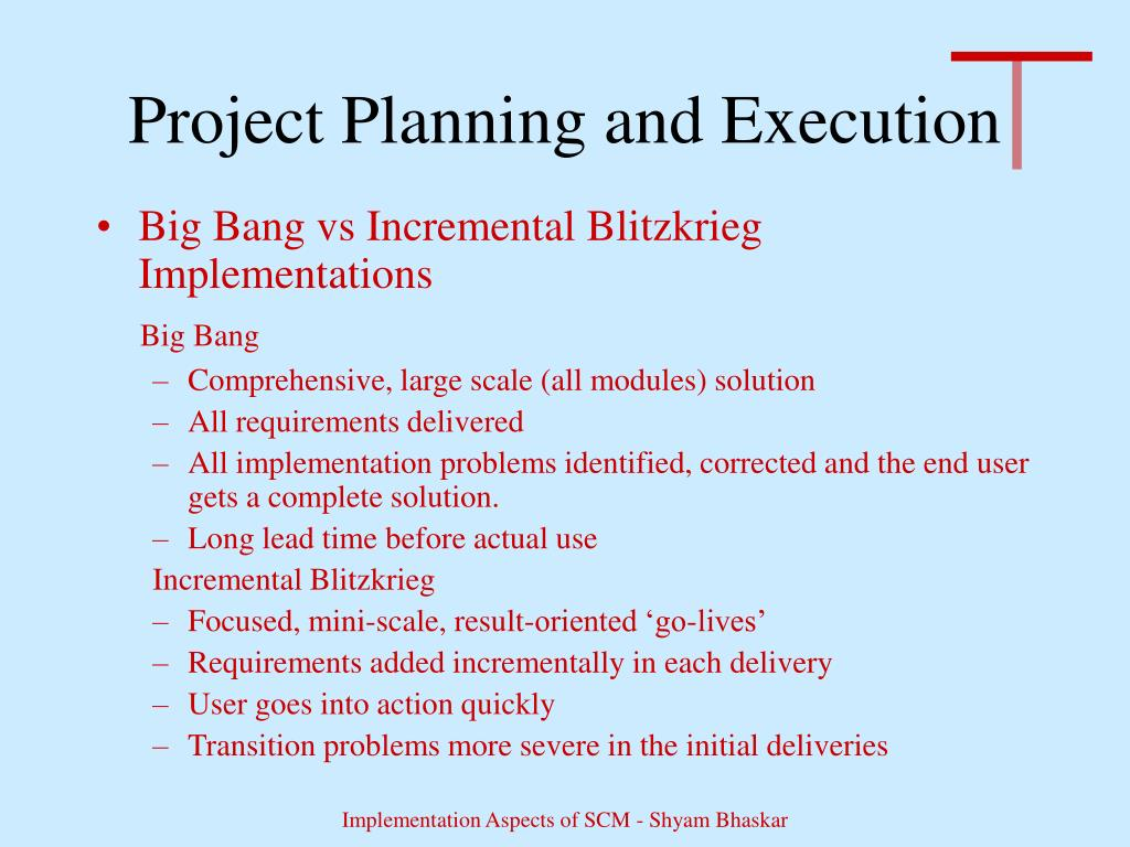 Project Planning and Execution