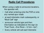 radio call procedures
