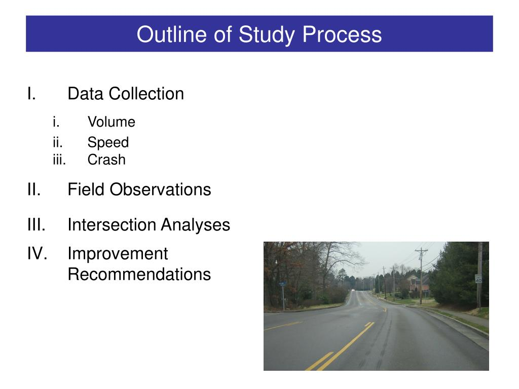 Outline of Study Process