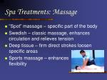 spa treatments massage