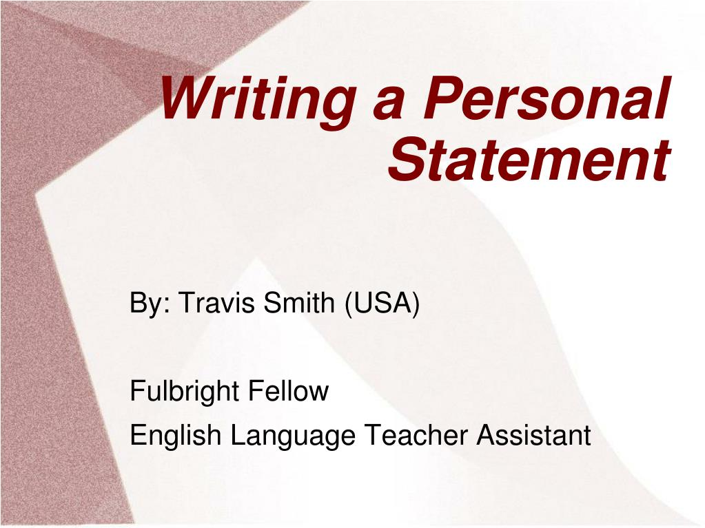 personal essay powerpoint