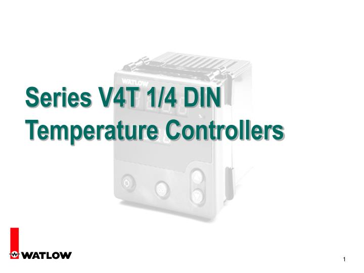 Series v4t 1 4 din temperature controllers