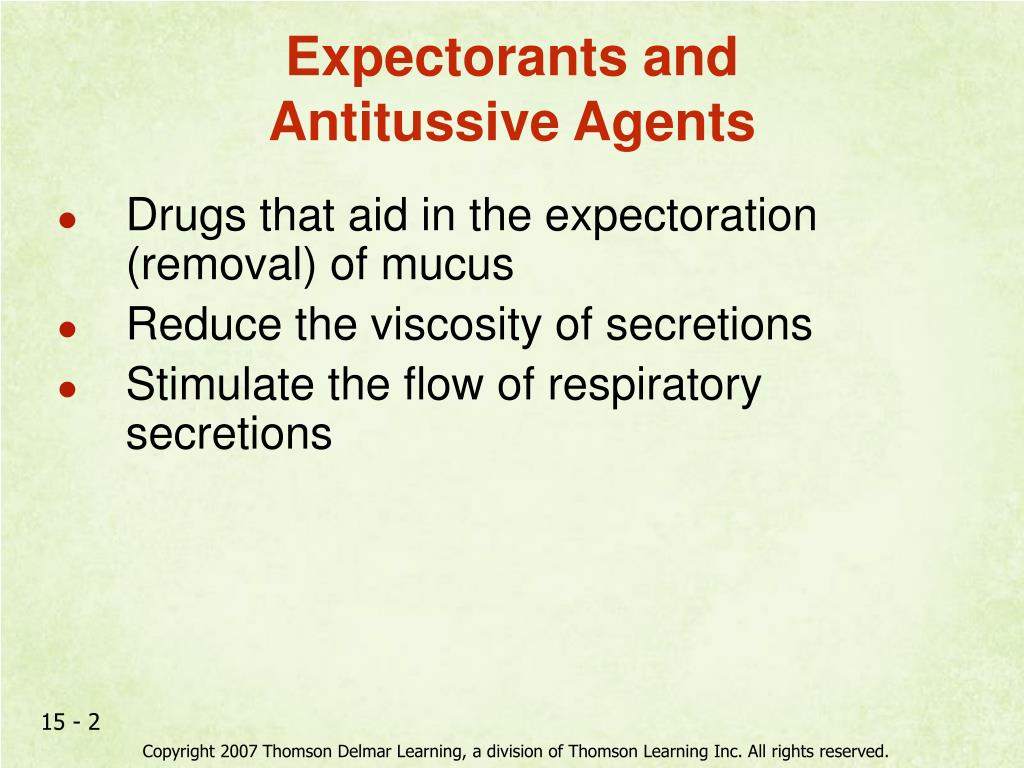 Expectorants and