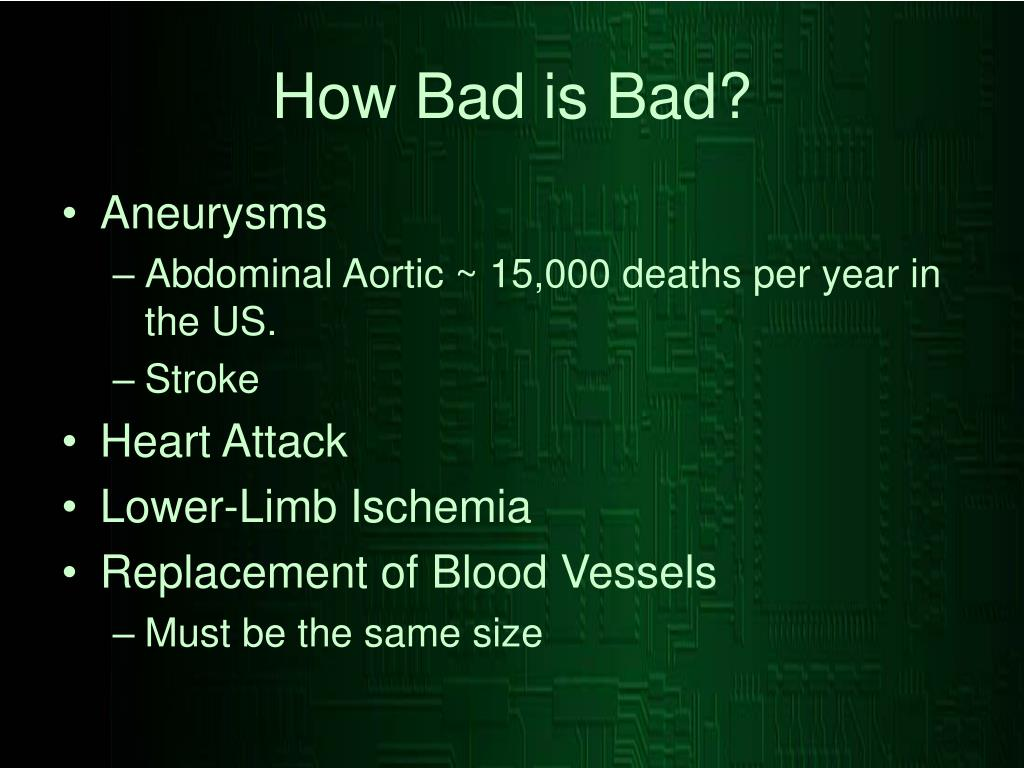How Bad is Bad?