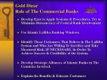 gold dinar role of the commercial banks
