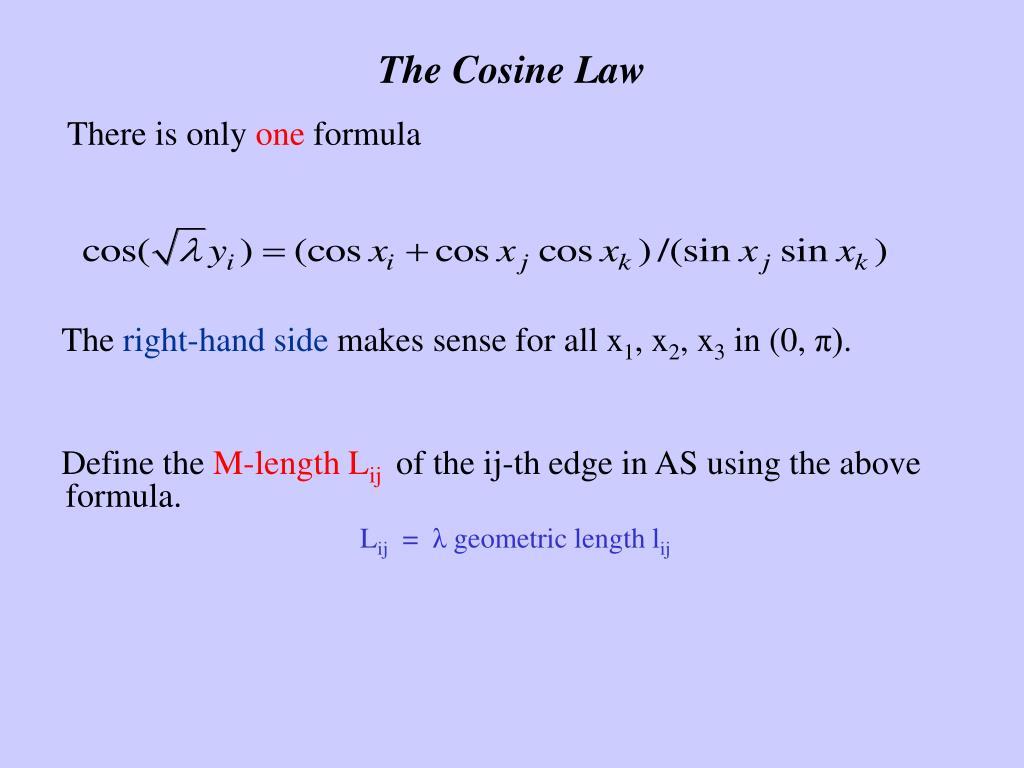 The Cosine Law