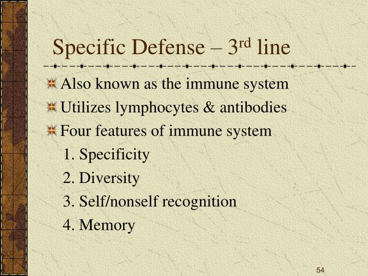Specific Defense – 3