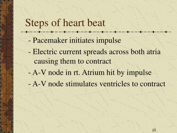 Steps of heart beat