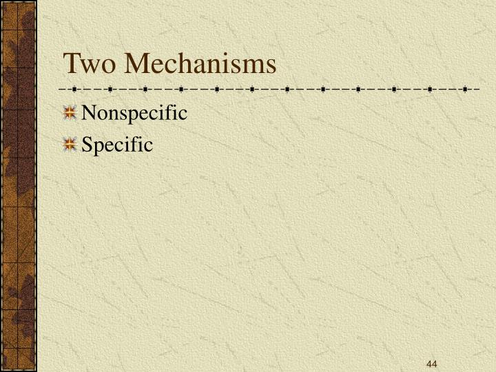 Two Mechanisms