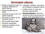 dominated cultures