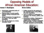opposing models of african american education
