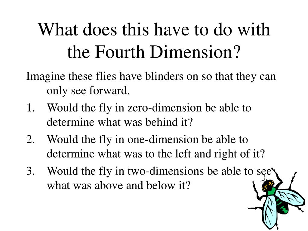 What does this have to do with the Fourth Dimension?