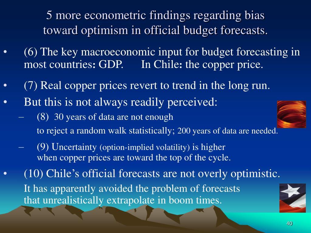 5 more econometric findings regarding bias