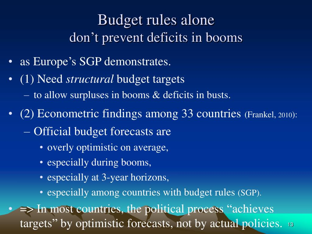 Budget rules alone