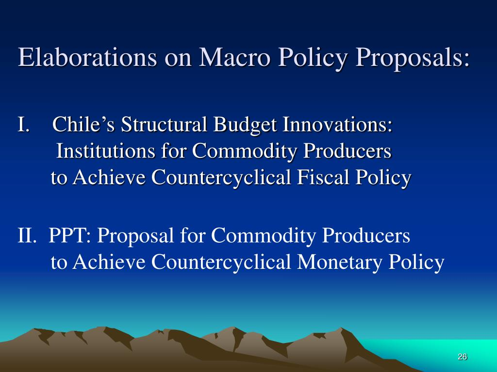 Elaborations on Macro Policy Proposals: