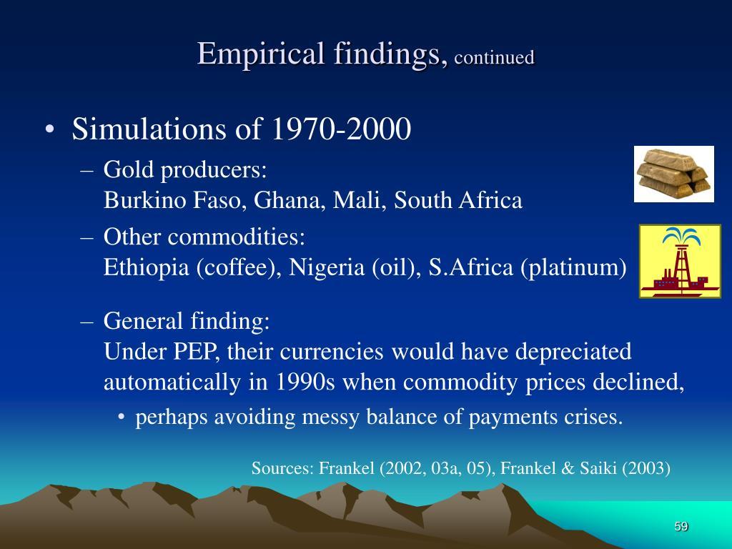 Empirical findings,