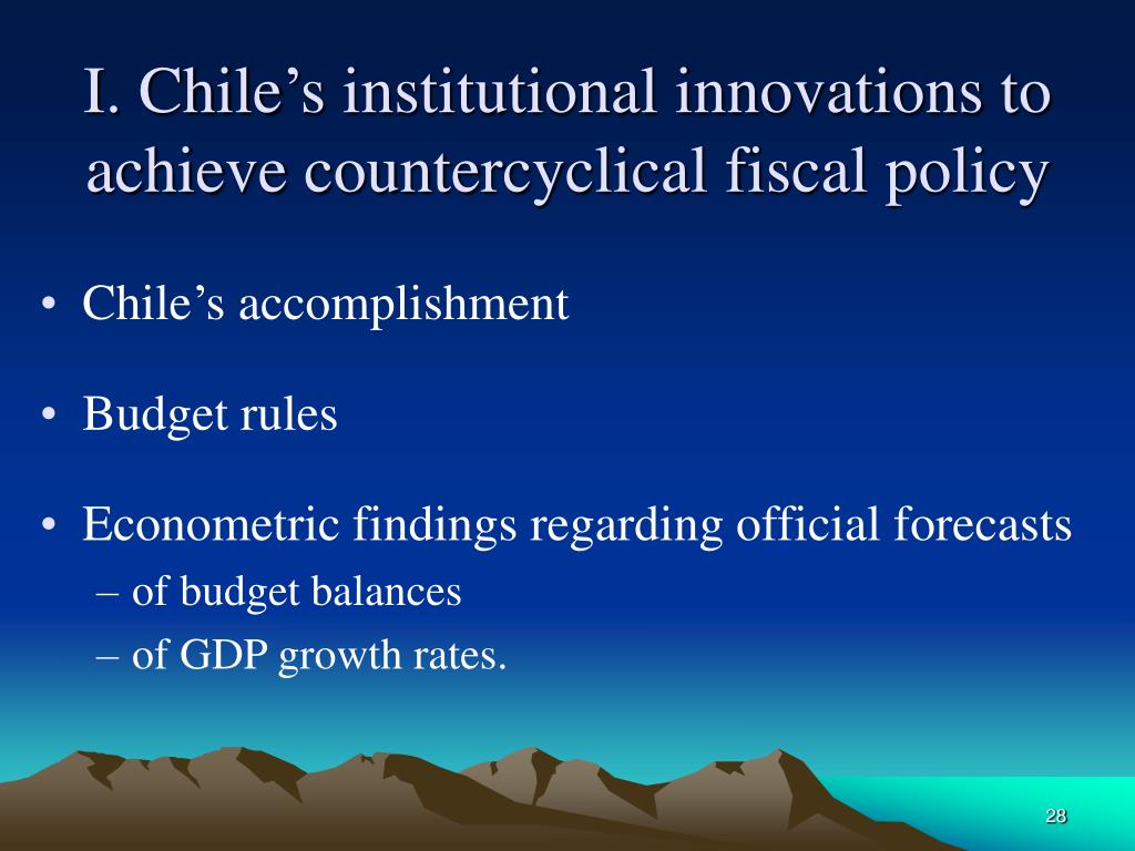 I. Chile's institutional innovations to achieve countercyclical fiscal policy
