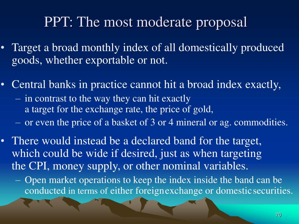 PPT: The most moderate proposal