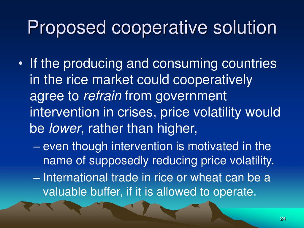 Proposed cooperative solution