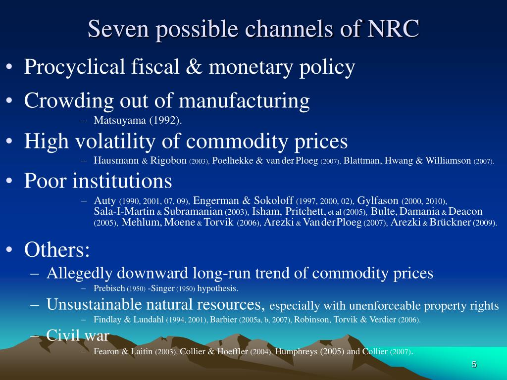 Seven possible channels of NRC