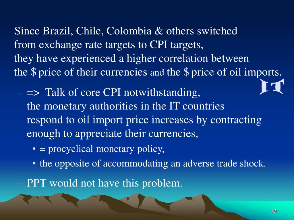 Since Brazil, Chile, Colombia & others switched