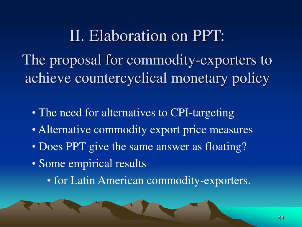 II. Elaboration on PPT: