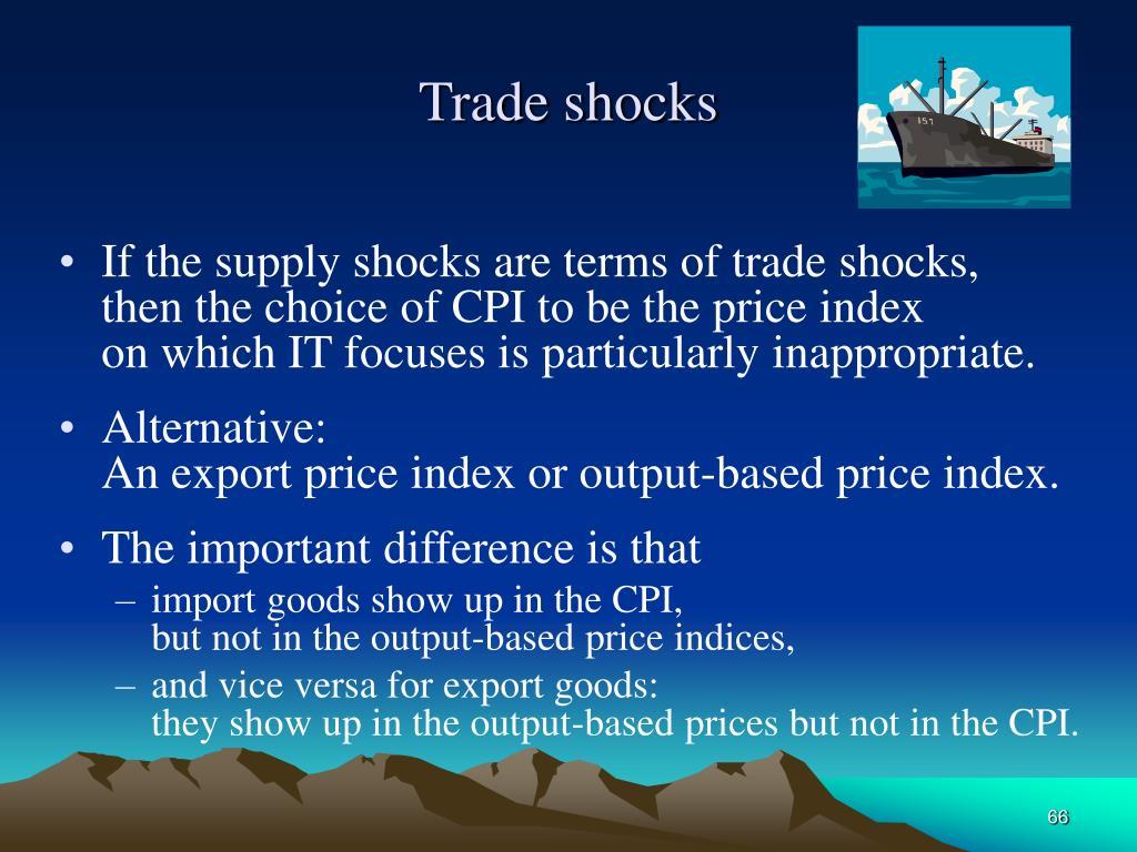 Trade shocks