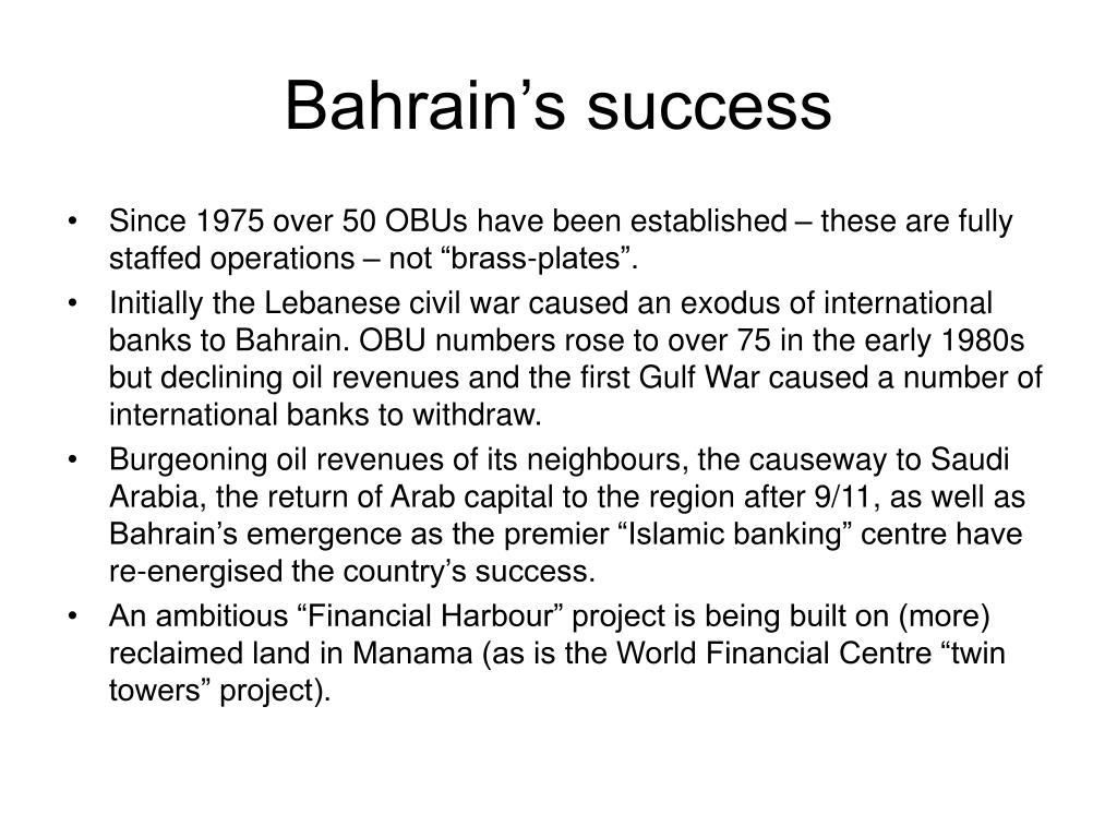 Bahrain's success