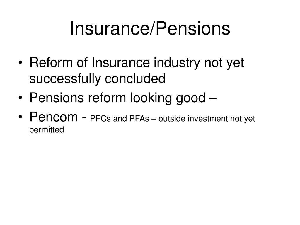 Insurance/Pensions