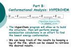 part b conformational analysis hyperchem