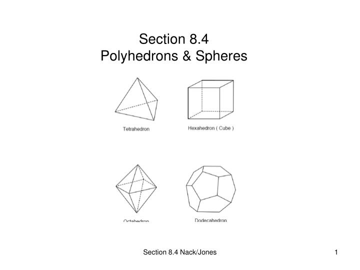 section 8 4 polyhedrons spheres n.