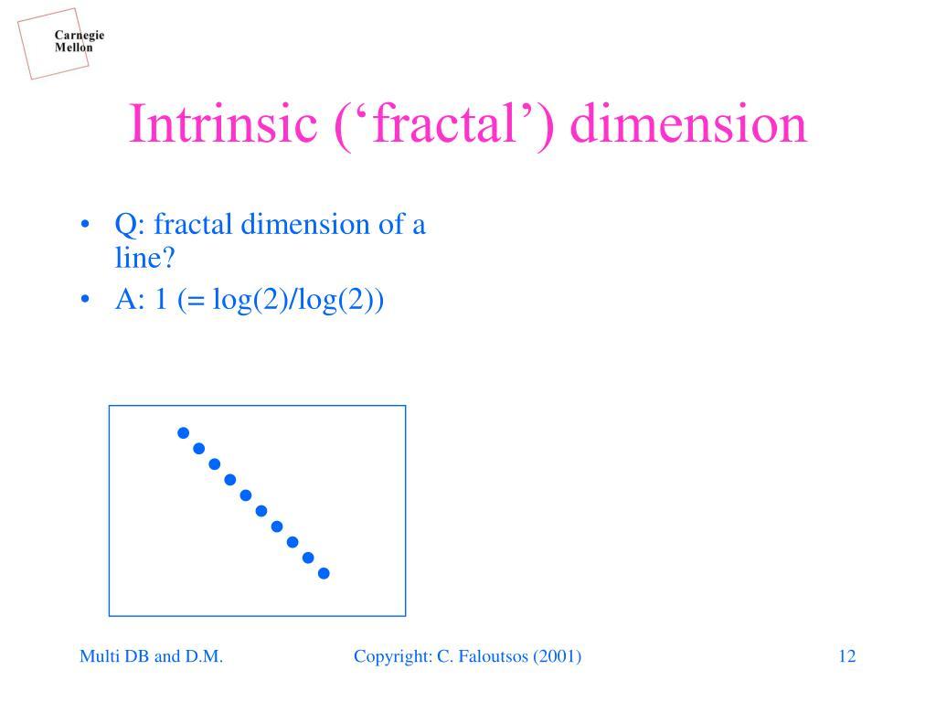 Q: fractal dimension of a line?