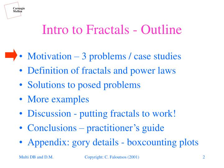 Intro to fractals outline