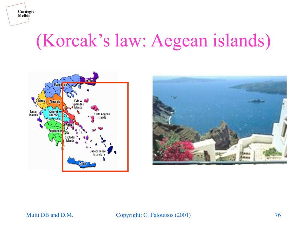 (Korcak's law: Aegean islands)