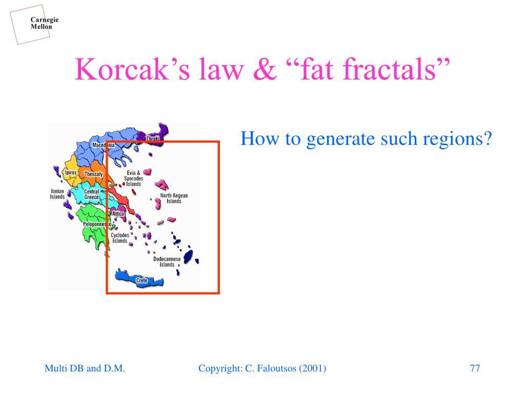 """Korcak's law & """"fat fractals"""""""
