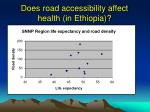 does road accessibility affect health in ethiopia
