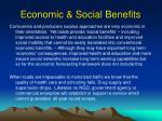 economic social benefits