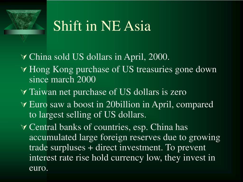 Shift in NE Asia