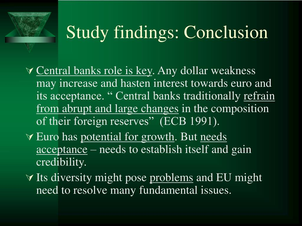 Study findings: Conclusion