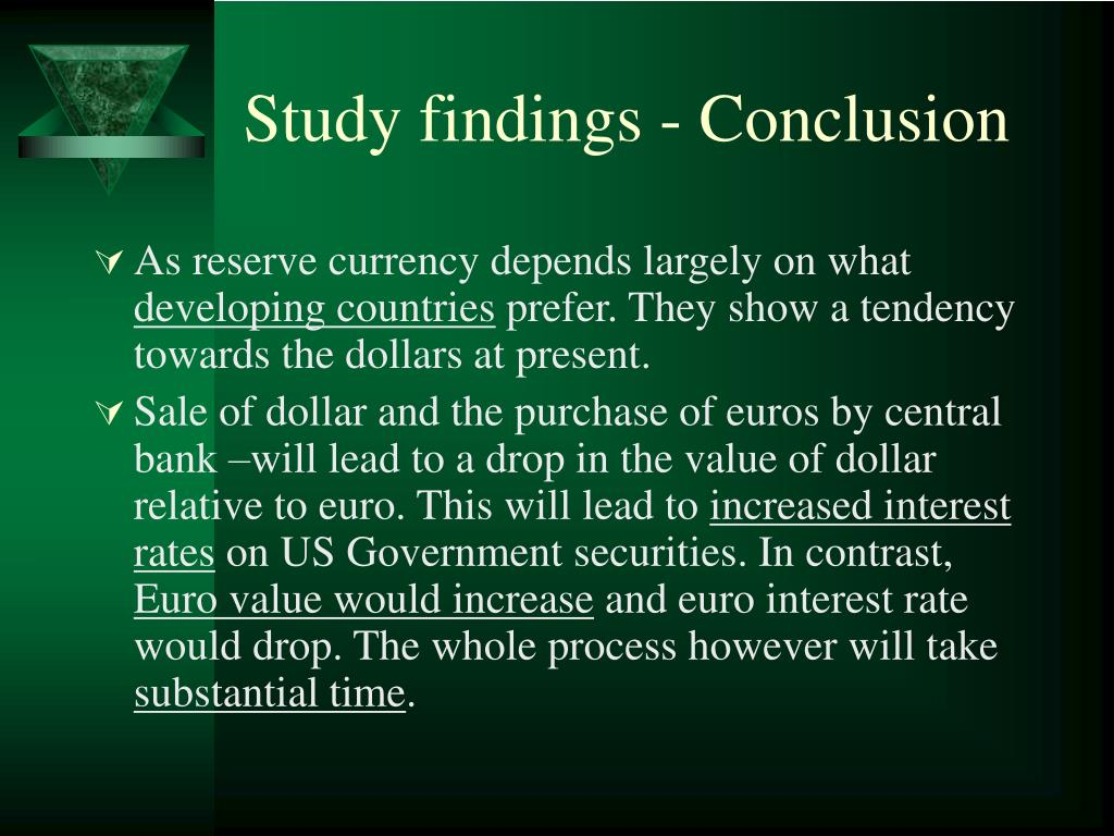 Study findings - Conclusion