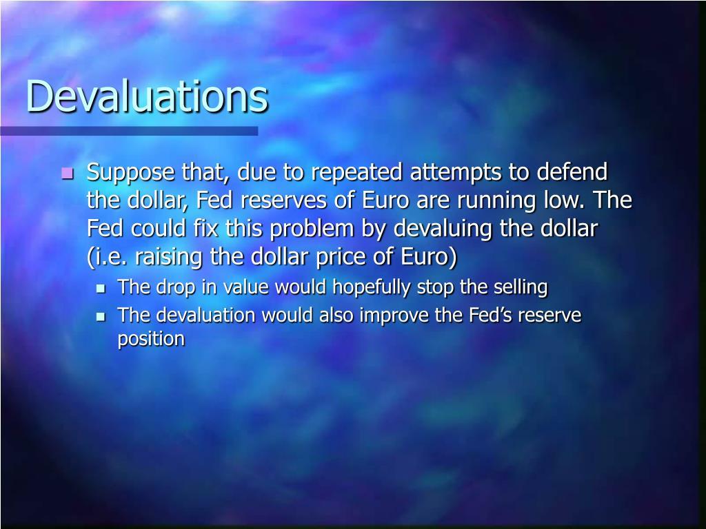 Devaluations