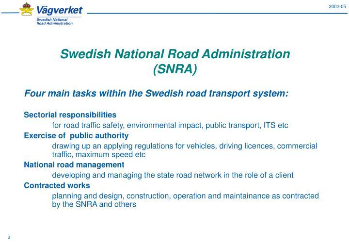 Swedish national road administration snra