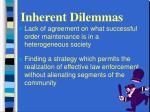 inherent dilemmas