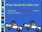 what should the police do