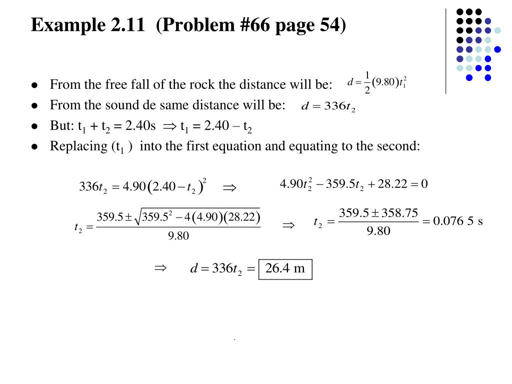 Example 2.11  (Problem #66 page 54)