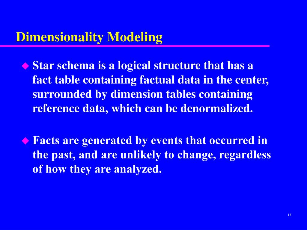 Dimensionality Modeling