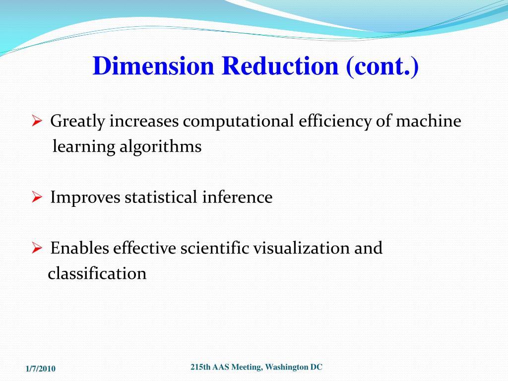 Dimension Reduction (cont.)