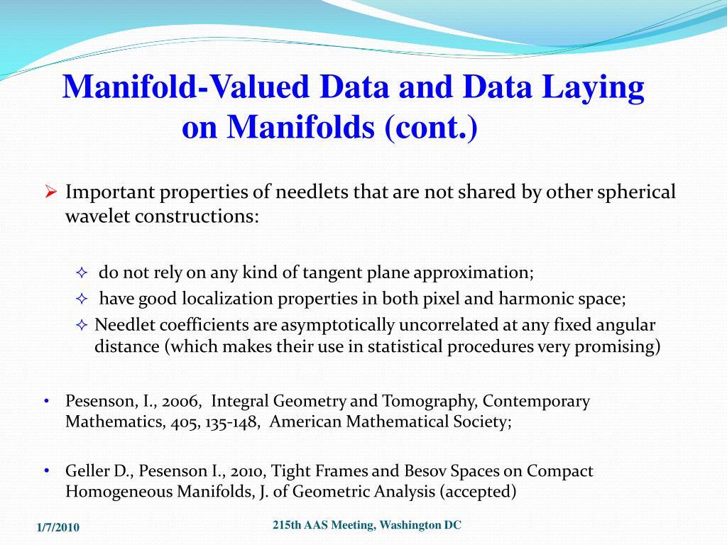 Manifold-Valued Data and Data Laying