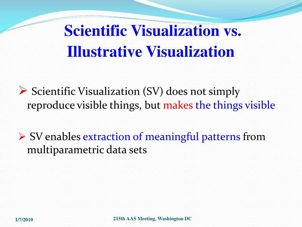 Scientific Visualization vs.